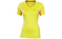 Asics Scoop  tshirt sport Femme SS, Neck jaune/rouge